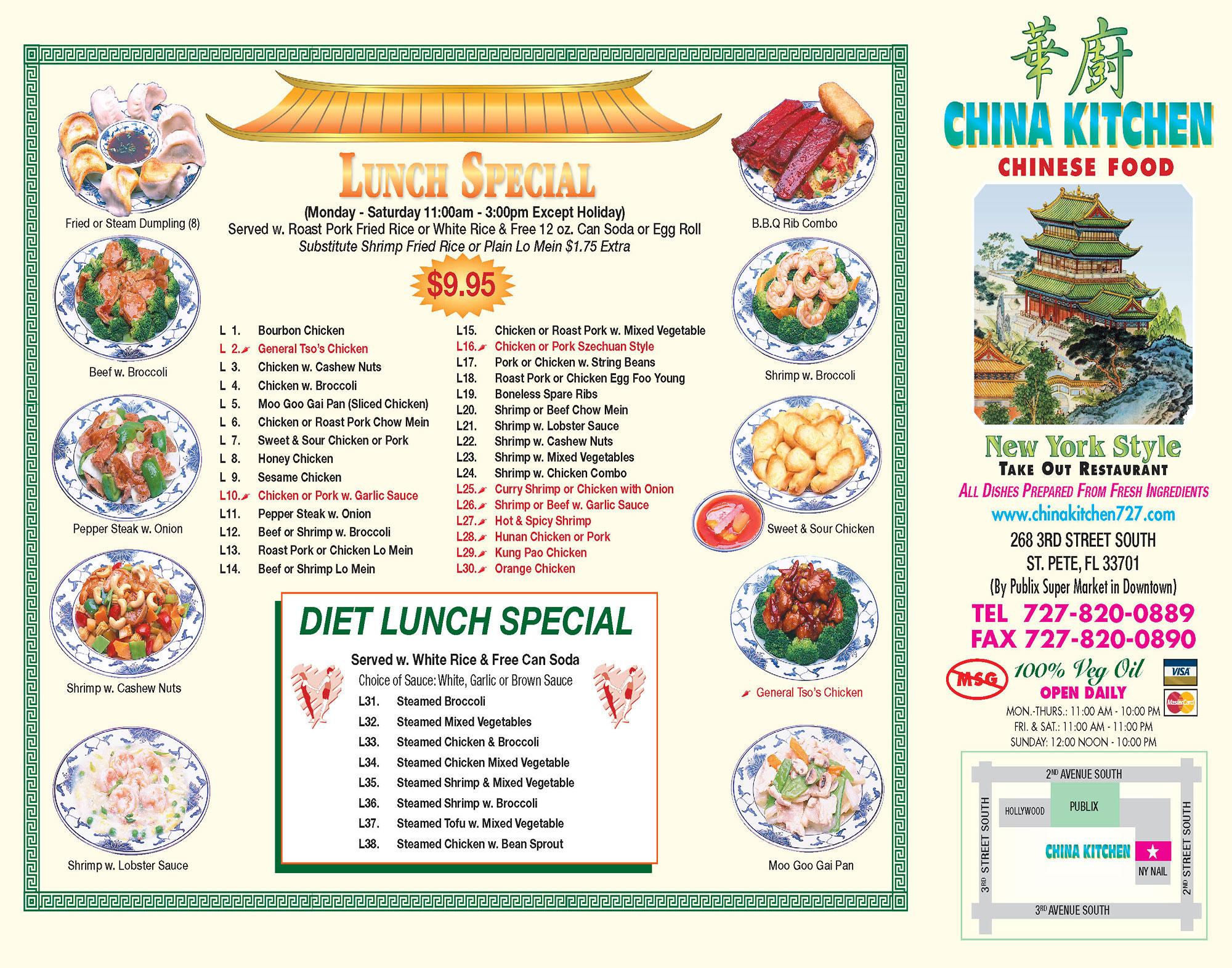 Chinese Kitchen Menu